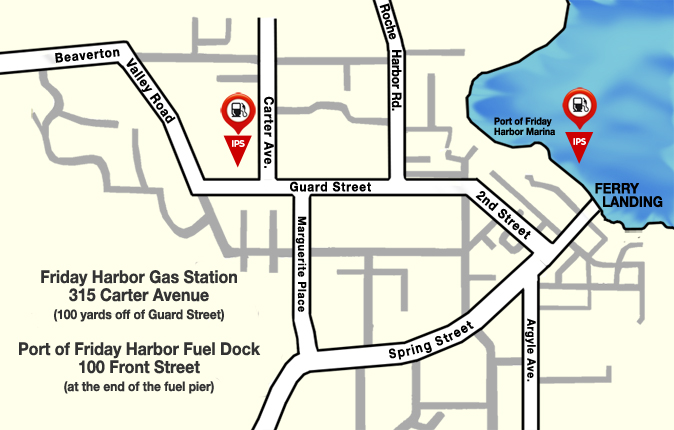 friday harbor san juan island gas stations location map